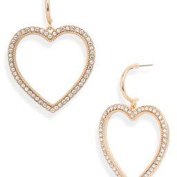 Pavé Heart Drop Earrings   Nordstrom