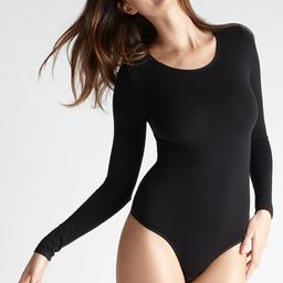 Long Sleeve Shaping Thong Back Bodysuit | Yummie