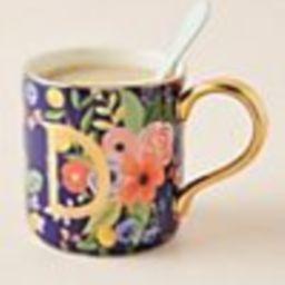 Rifle Paper Co. for Anthropologie Garden Party Monogram Mug | Anthropologie (US)