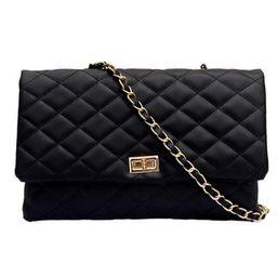 Mojoyce Fashion Women Shoulder Messenger Handbag Chain Leather Evening Bag (Black)   Walmart (US)