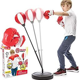 Whoobli Punching Bag for Kids Incl Boxing Gloves   3-8 Years Old Adjustable Kids Punching Bag wit...   Amazon (US)