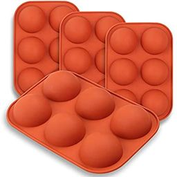 homEdge Medium Semi Sphere Silicone Mold, 4 Packs Baking Mold for Making Hot Chocolate Bomb, Cake... | Amazon (US)