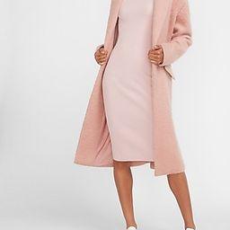 Ribbed Turtleneck Midi Sweater Dress Pink Women's XL | Express