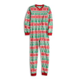 Jammies For Your Families Kids 4-20 Christmas Like You Mean It Onsie Pajamas, Boy's, Size: 7-8, Whit   Kohl's