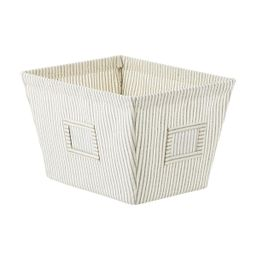 Farmhouse Open Canvas Storage Bins with Labels | The Container Store