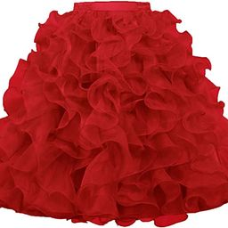 ANTS Women's 1950's Vintage Rockabilly Organza Ruffle Ball Gown Petticoat Skirt | Amazon (US)