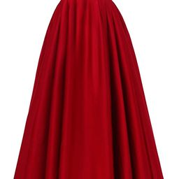 YORFORMALS Women's Off The Shoulder A-line Beaded Satin Prom Dress Long Evening Ball Gown with Po... | Amazon (US)