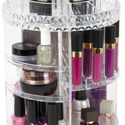 Mainstays Rotating Makeup Organizer, Clear   Walmart (US)