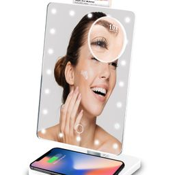 HollywoodTech Mirror with bluetooth speakers and Qi wireless charging   Walmart (US)