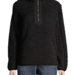 Time and Tru Women's Quarter Zip Sherpa Pullover   Walmart (US)