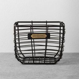 Wire Storage Basket Black - Hearth & Hand™ with Magnolia | Target