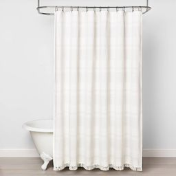 Textured Stripe Shower Curtain White - Hearth & Hand™ with Magnolia | Target