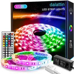 65.6ft Led Lights for Bedroom dalattin Led Strip Lights Color Changing Lights with 44 Keys Remote...   Amazon (US)