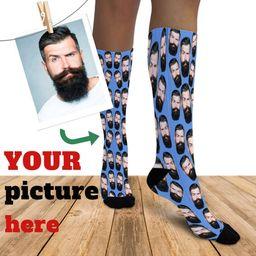 Custom Face Socks Knee High Photo Socks Personalize Socks Picture Socks Personalized Socks For Me... | Etsy (US)