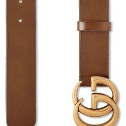 GG Logo Buckle Leather Belt   Nordstrom