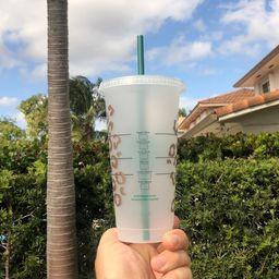 Cheetah Reusable Starbucks Venti Cup! Leopard Reusable cup, Teacher Gift, Mothers day, Animal Pri...   Etsy (US)