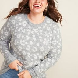 Cozy Leopard-Print Plus-Size Tunic Sweater   Old Navy (US)
