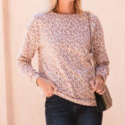 Amaryllis Women's Pullover Sweaters LEOPARD - Pink Leopard Crewneck Sweater - Plus   Zulily