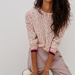 Sundry Leopard Spotted Sweater By Sundry in Pink Size S   Anthropologie (US)