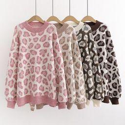 Leopard Print Sweater   YesStyle Global
