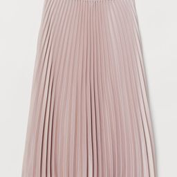 H & M - Pleated Skirt - Pink   H&M (US)