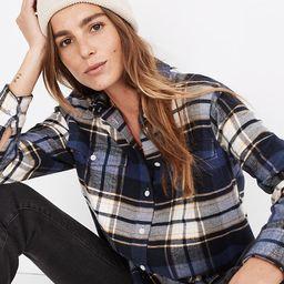 Flannel Flap-Pocket Oversized Ex-Boyfriend Shirt in Coltrane Plaid | Madewell