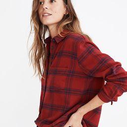Flannel Oversized Ex-Boyfriend Shirt in Windowpane | Madewell