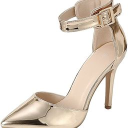 Cambridge Select Women's D'Orsay Closed Pointed Toe Buckled Ankle Strap Stiletto High Heel Pump | Amazon (US)