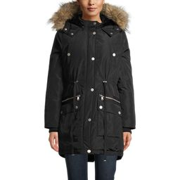 Time and Tru Women's Heavyweight Anorak with Faux Fur Trimmed Hood | Walmart (US)