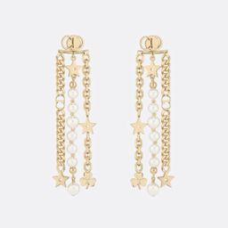 AUTH Christian Dior 2019 DANSEUSE ETOILE MULTI STRAND STAR EARRINGS PEARL GOLD   Bonanza (Global)