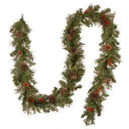 "9' x 12"""" Mixed Cashmere Pine Artificial Christmas Garland - Unlit | Walmart (US)"