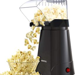 HIRIFULL 1200W Hot Air Popcorn Poppers Machine, Home Electric Popcorn Maker with Measuring Cup, 3... | Amazon (US)