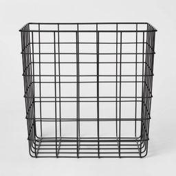 Decorative Baskets Steel Square Black - Room Essentials™ | Target