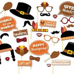 29PCS Thanksgiving Day Party Supplies Decorations Turkey Masks Photo Booth Props By 7-gost   Amazon (US)