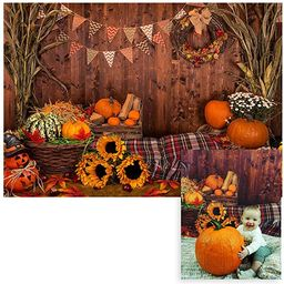 Funnytree 7x5ft Fall Thanksgiving Photography Backdrop Rustic Wooden Floor Barn Harvest Backgroun...   Amazon (US)