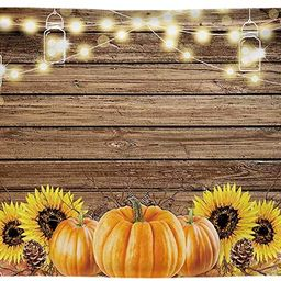 Funnytree 7x5ft Durable Fabric Autumn Thanksgiving Theme Party Backdrop No Wrinkles Rustic Wooden...   Amazon (US)