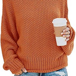 ZESICA Women's Turtleneck Batwing Sleeve Loose Oversized Chunky Knitted Pullover Sweater Jumper T...   Amazon (US)
