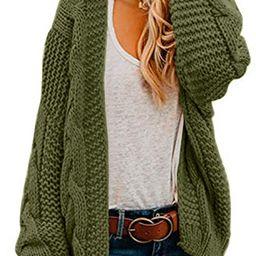 Ferrtye Womens Oversized Chunky Open Front Cardigan Sweaters Cable Knit Long Sleeve Boyfriend Car...   Amazon (US)