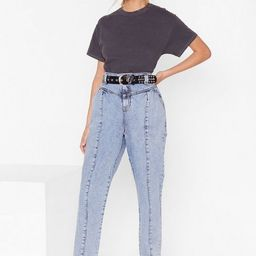 High-Waisted Denim Jeans with Seam Detailing   NastyGal (US & CA)