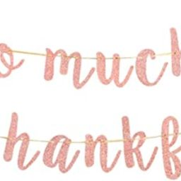So Much to Be Thankful Banner, Thanksgiving Party Decorations, Happy Fall Banner, Autumn Harvest ...   Amazon (US)