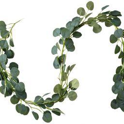 Belle Fleur Faux Eucalyptus Garland 6FT, 147 Pcs Leaves Christmas Greenery Garland for Wedding Ba...   Amazon (US)