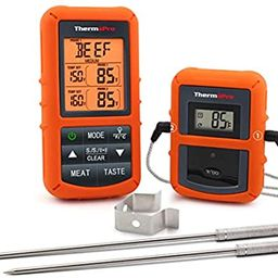 ThermoPro TP20 Wireless Remote Digital Cooking Food Meat Thermometer with Dual Probe for Smoker G...   Amazon (US)