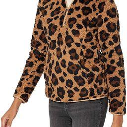 Amazon Essentials Women's Polar Fleece Lined Sherpa Quarter-Zip Jacket | Amazon (US)
