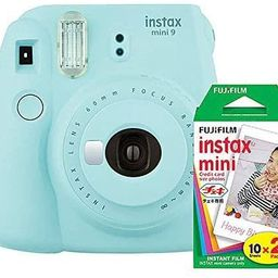 Fujifilm instax Mini 9 Instant Camera (Ice Blue) with Film Twin Pack Bundle (2 Items) | Amazon (US)