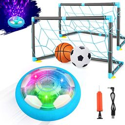 Growsland 2-in-1 Starlight Hover Soccer Ball Set with 2 Goals - Kids Toys Projector Rechargeable ... | Amazon (US)