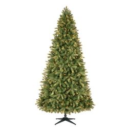9 ft Manchester White Spruce LED Pre-Lit Artificial Christmas Tree with 600 SureBright Color Chan...   The Home Depot