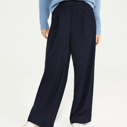 The Flannel Wide Leg Pull On Pant   Ann Taylor   Ann Taylor (US)