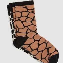 Giraffe Print Trouser Sock Set   Ann Taylor   Ann Taylor (US)