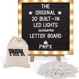 Black Felt Letter Board with Stand, Built-in LED Lights (10 x 10) - Menu Board, Wood Frame, 340 L...   Amazon (US)