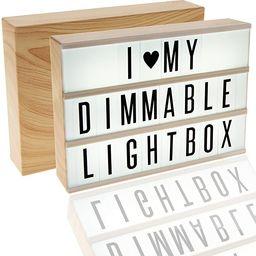 380 Tiles, Woodgrain Effect Dimmable Cinema Light Box, Unique Kids Night Light, Cinematic Vintage...   Amazon (US)